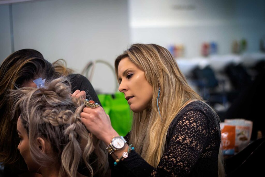 Cosmetology student at JD Academy of Salon + Spa in Danville, CA