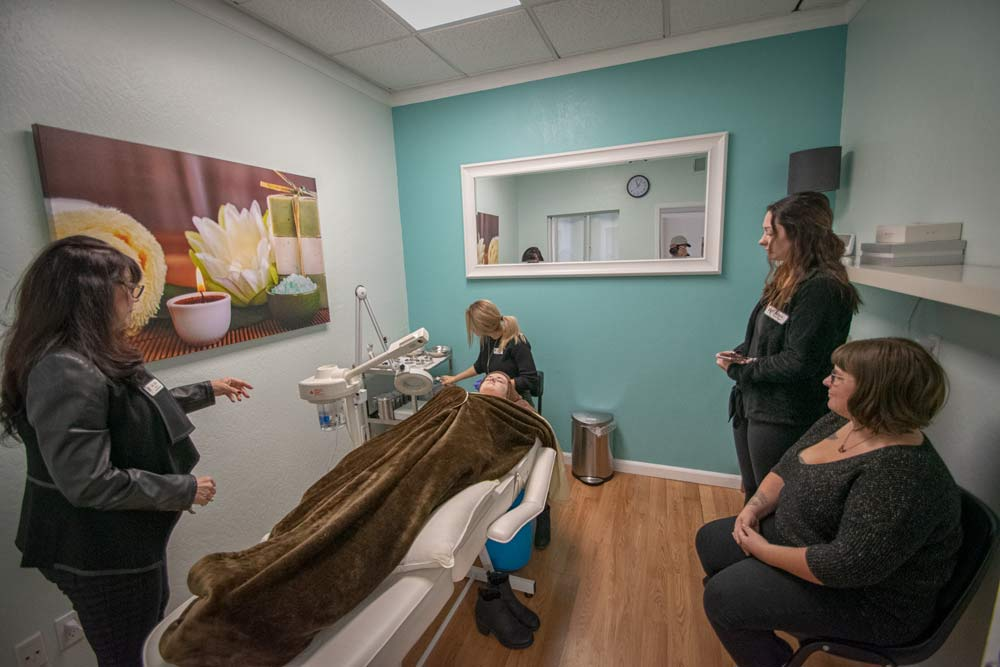 Spa room at JD Academy in Danville, CA