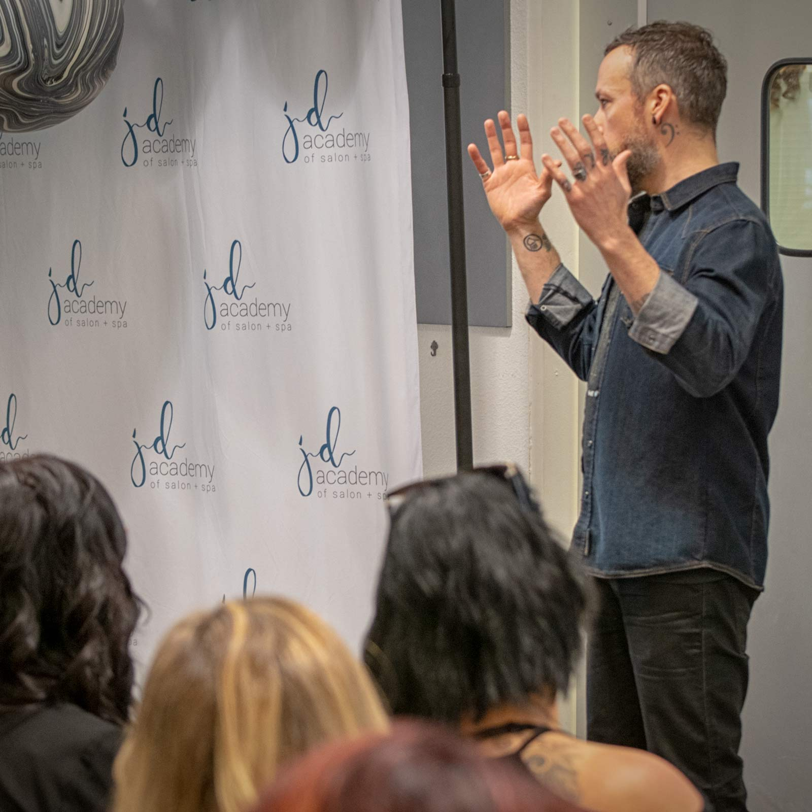 Andrew Carruthers at JD Academy Cosmetology School in Danville, CA