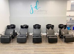 Hair Wash Stations at JD Academy's Beauty School in The San Francisco Bay Area